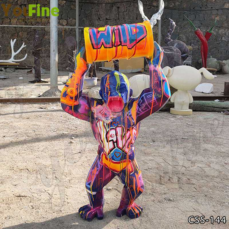 Colorful King Kong Stainless Steel Sculpture for Sale CSS-144