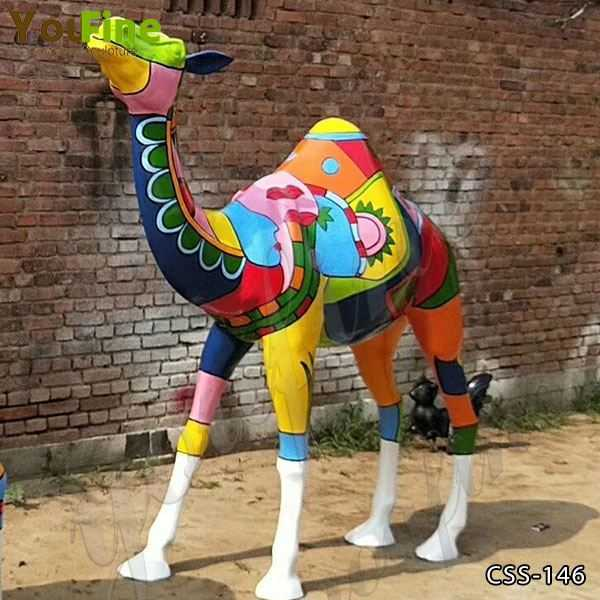 Colorful Life Size Camel Sculpture for Sale