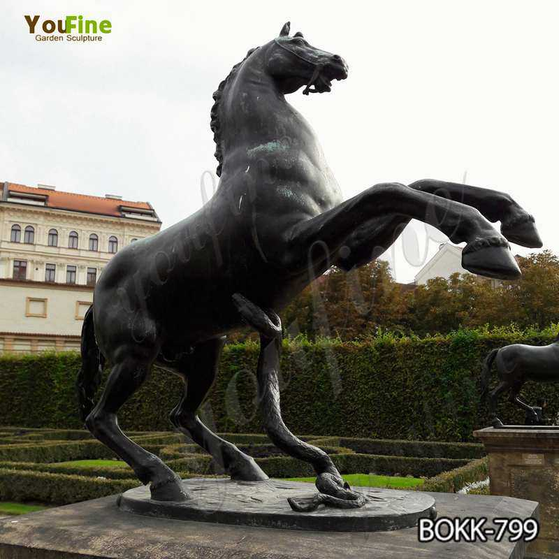 Craft Life Size Bronze Jumping Horse Statue for Sale BOKK-799