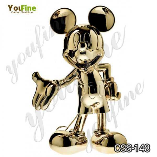 Custom Made Stainless Steel Mickey Mouse Sculpture for Sale