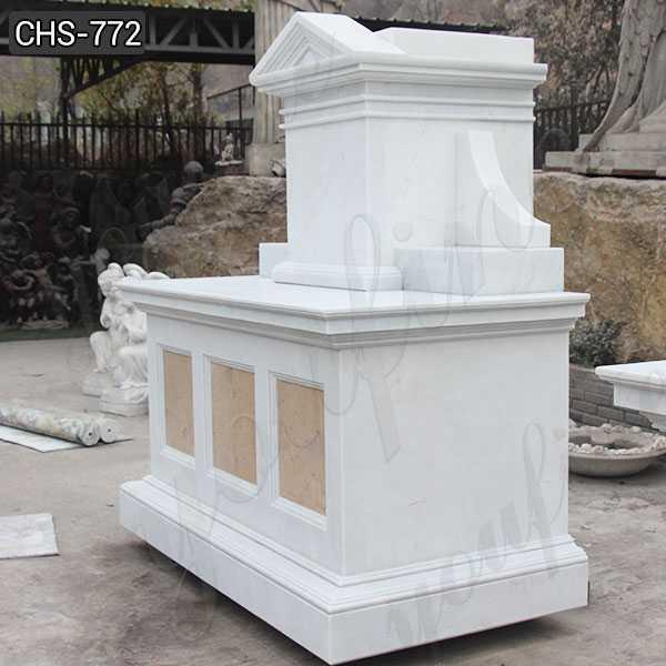 Customized White Marble Altar Table Religious Church Altar