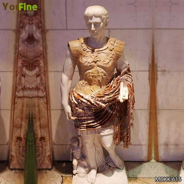 Famous Augustus of Primaporta Marble Statue