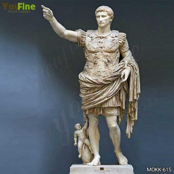 Famous Augustus of Primaporta Marble Statue Replica MOKK-615