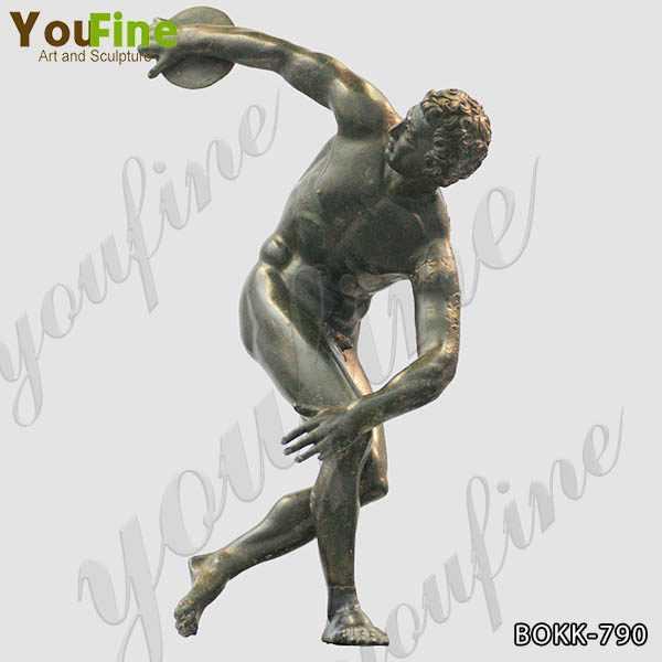 Famous Discobolus Bronze Art Statue