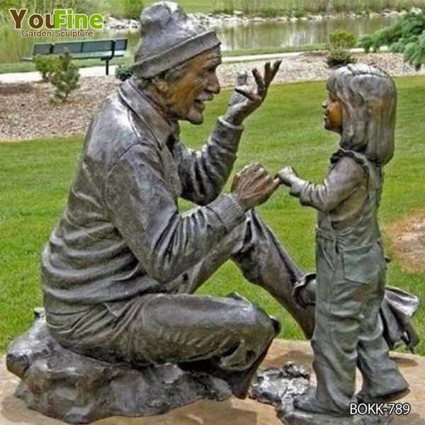 Garden Decoration Bronze Children Statue for Sale