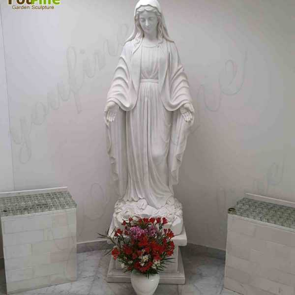 Good Feedback About Virgin Mary Marble Statue From Our Customer