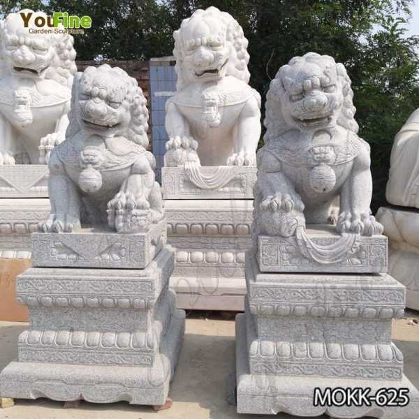 High Quality Outdoor Stone Foo Dog Statues