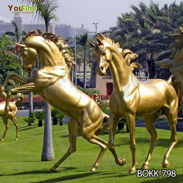 Hot Sale Outdoor Bronze Horse Statue for Garden BOKK-798