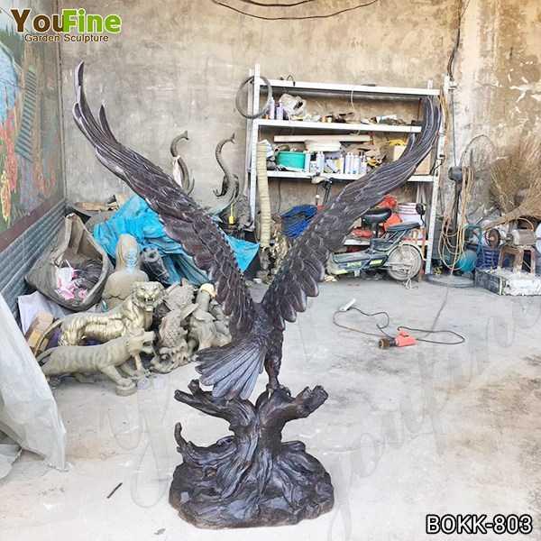Large Black Metal Bronze Eagle Statue for Garden Decor Supplier