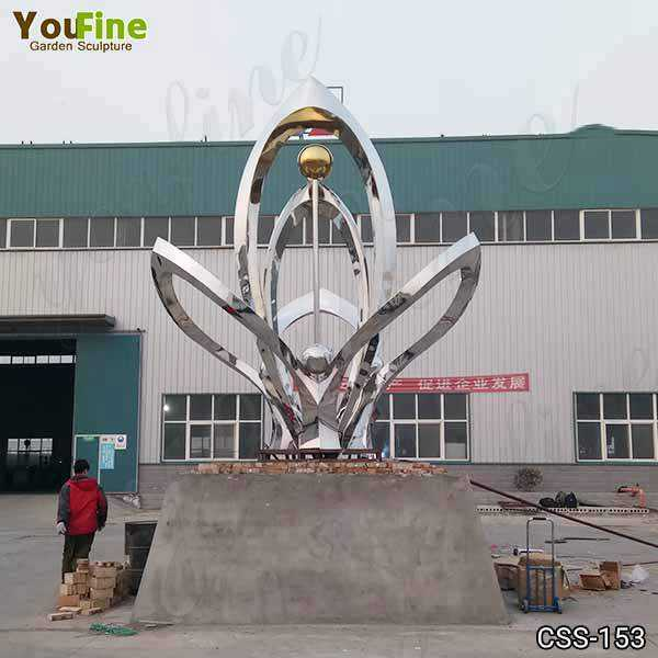 Large Outdoor Abstract Metal Sculptures for Sale