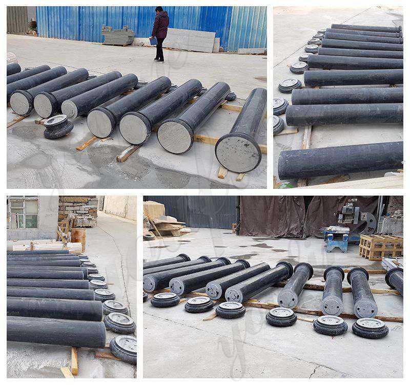 Large Solid Marble Column Pedestal Supplier