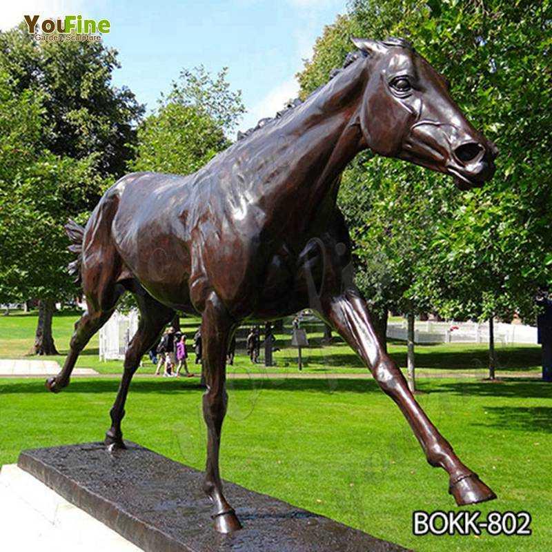Life Size Bronze Garden Standing Horse Statue Factory Supply BOKK-802