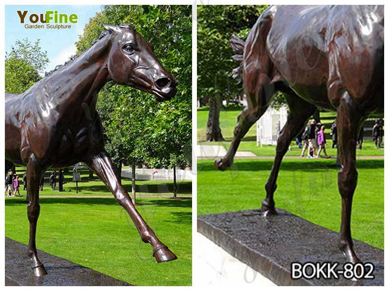 Life Size Bronze Garden Standing Horse Statue