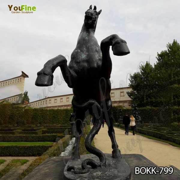 Life Size Bronze Jumping Horse Statue