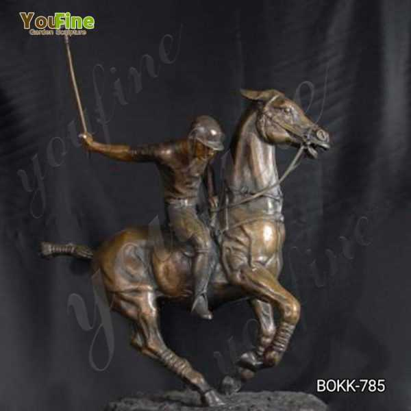 Life Size Bronze Polo Statue on Horse