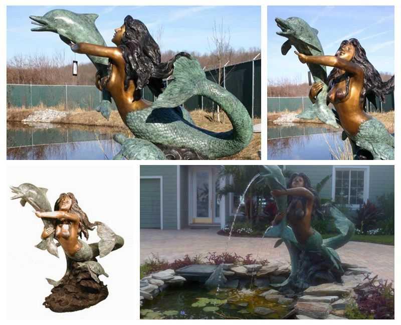Mermaid Female Fountains detail