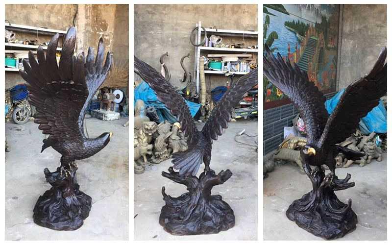 Metal Bronze Eagle Statue for Garden Decor