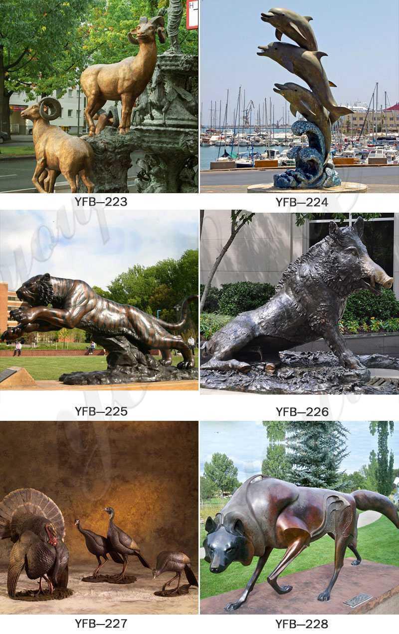Metal-bronze-animal-statues