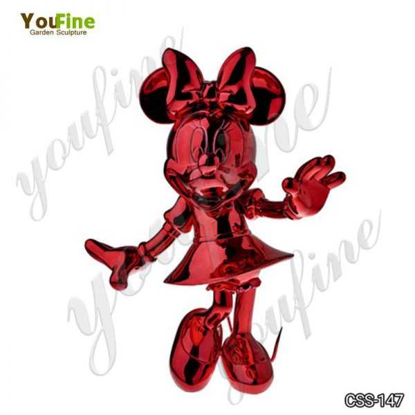 Cartoon Character Minnie Mouse Metal Sculpture for Sale CSS-147