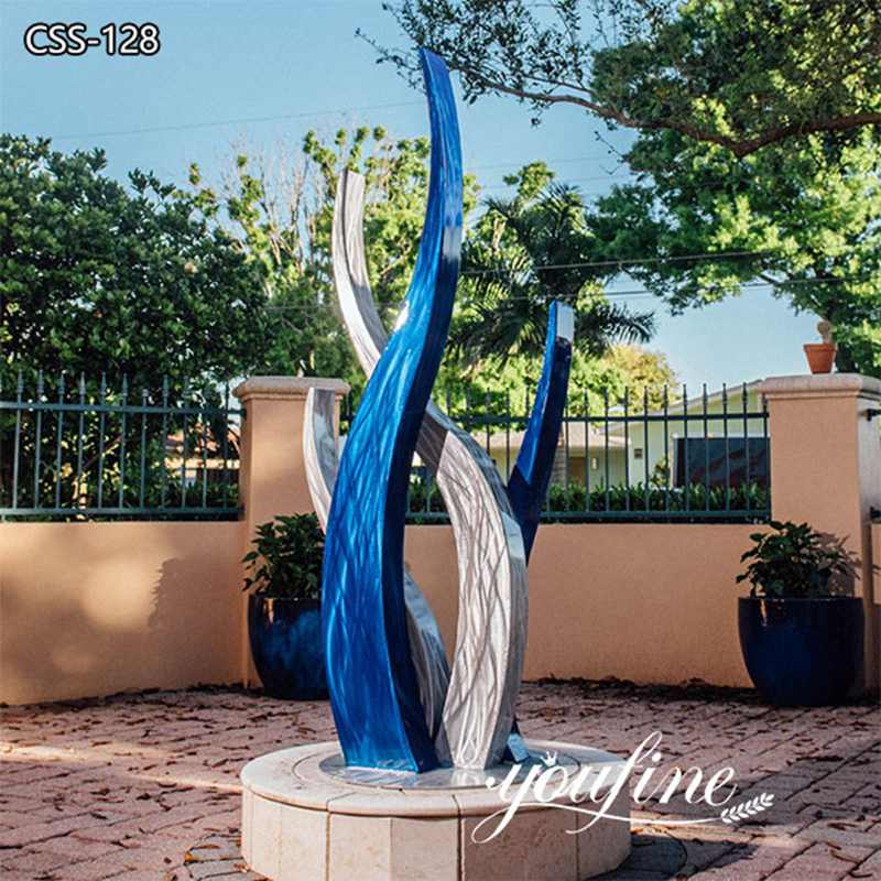 Outdoor High Polished Modern Abstract Stainless Steel Sculpture Supplier CSS-128