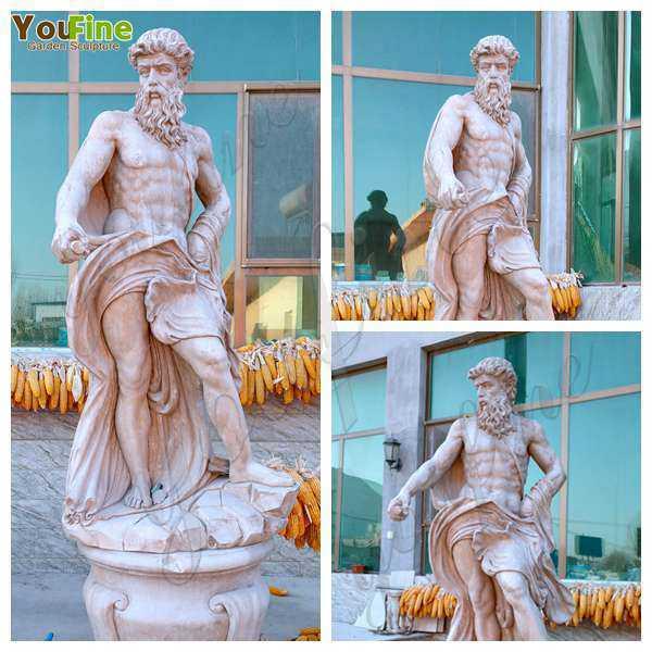 Neptune Beige Marble Statue ClassicGod of the Sea