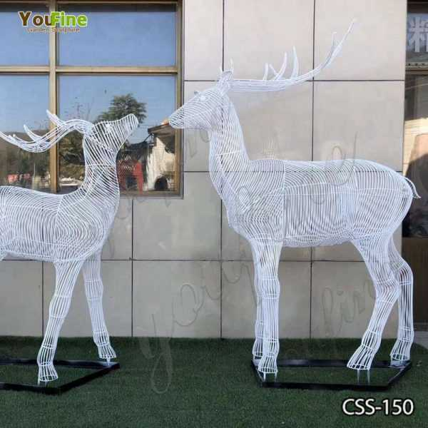 New Design Abstract Stainless Steel Deer Sculpture for Sale