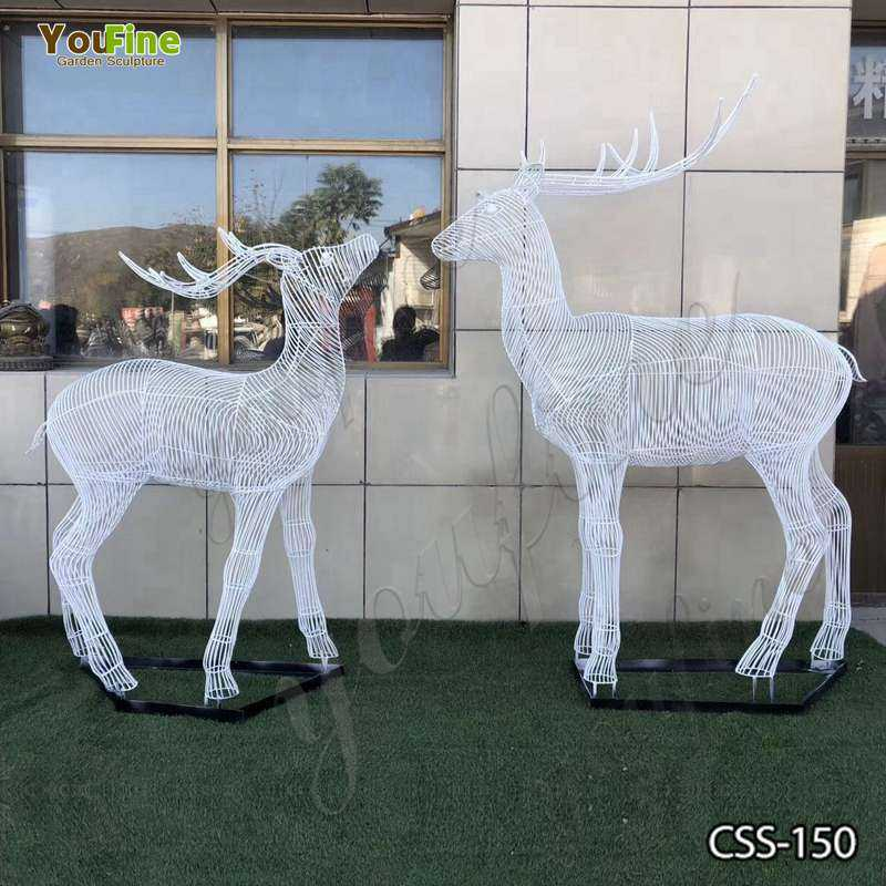 New Design Abstract Stainless Steel Deer Sculpture for Sale CSS-150