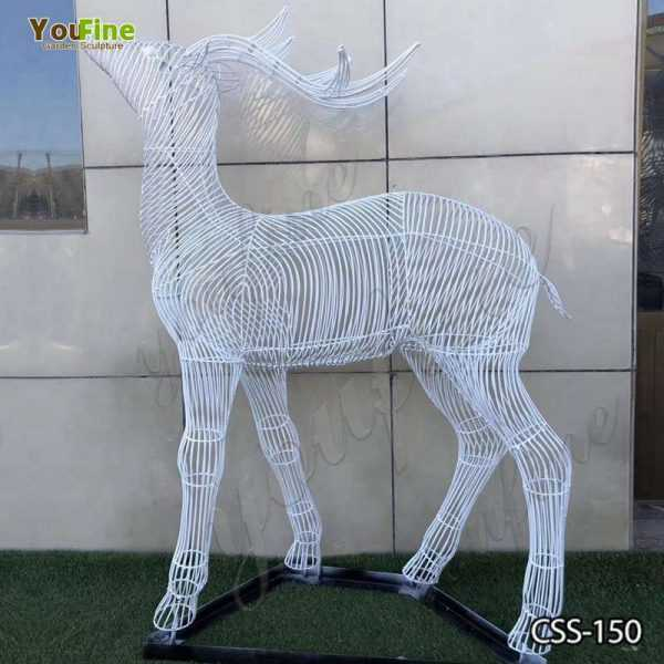 New Design Stainless Steel Deer Sculpture