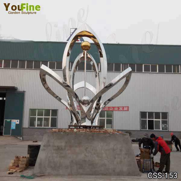Outdoor Abstract Metal Sculptures