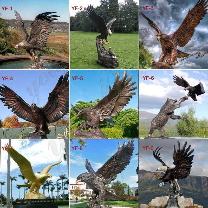 Outdoor-Bronze-Eagle-Statue