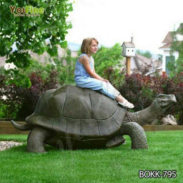 Outdoor Bronze Giant Tortoise Garden Statue