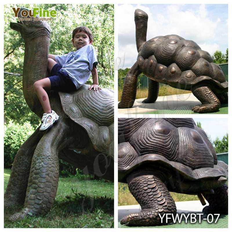 Outdoor Bronze Giant Tortoise Garden Statue for Sale