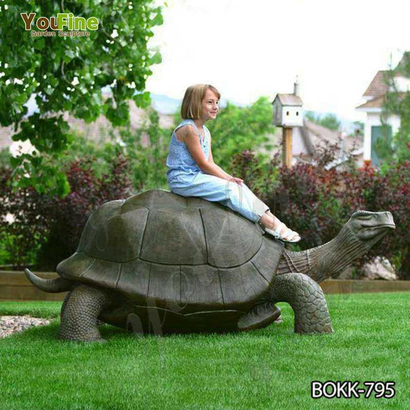 Outdoor Bronze Giant Tortoise Garden Statue for Sale BOKK-795