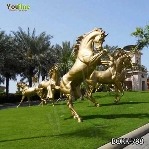 Outdoor Bronze Horse Statue for Garden