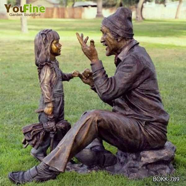 Outdoor Garden Decoration Bronze Children Statue