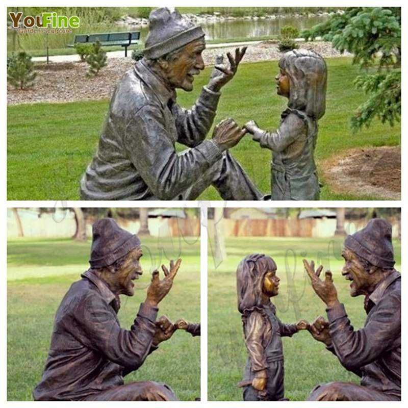 Outdoor Garden Decoration Bronze Children Statue for Sale