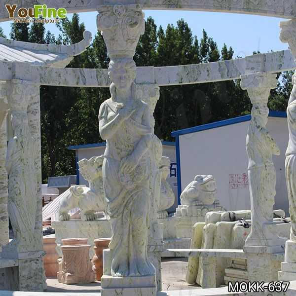 Outdoor Green Marble Statuary Gazebo