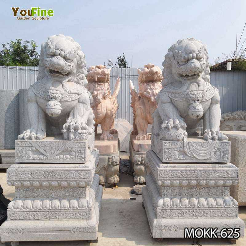 High Quality Outdoor Stone Foo Dog Statues Sale MOKK-625