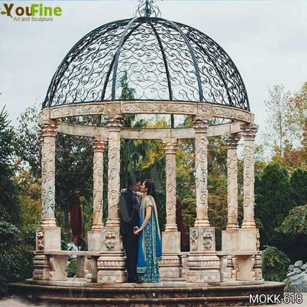 Outdoor Wedding Beige Marble Gazebo Decorations Supplier
