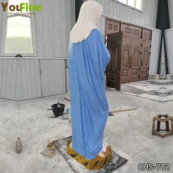Painted Blessed Mother Mary Prayer Marble Statue