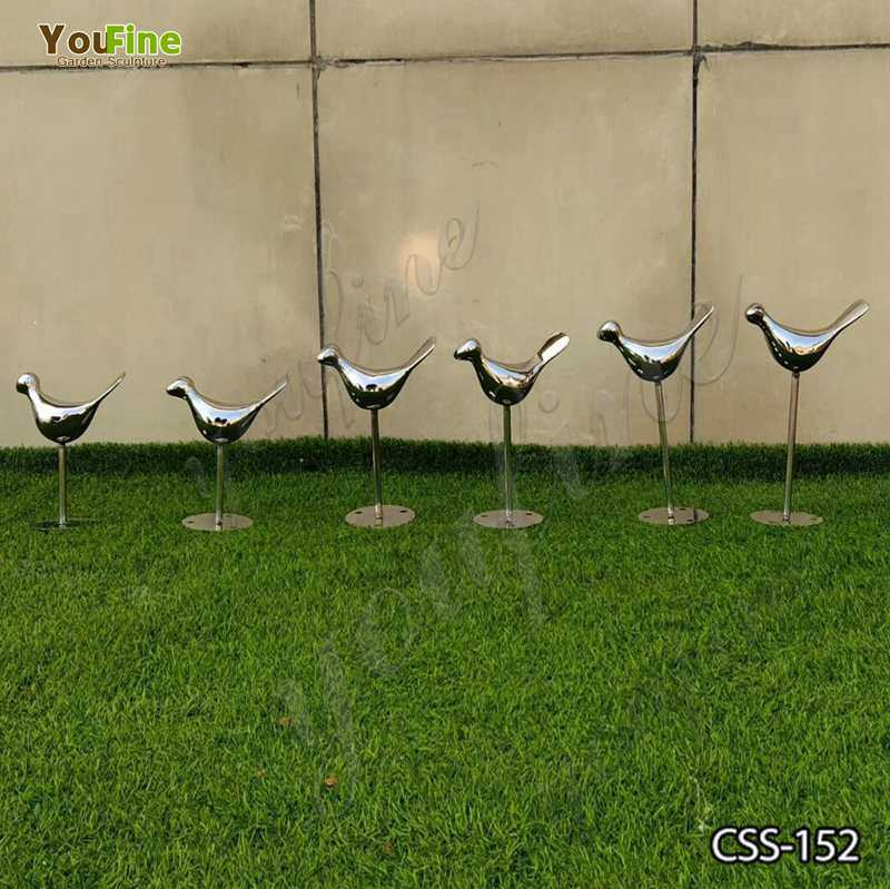 Stainless Steel Bird Sculptures for Garden Decor CSS-152