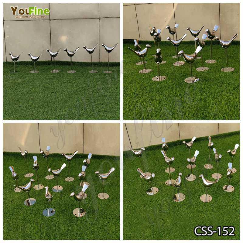 Stainless Steel Bird Sculptures for sale