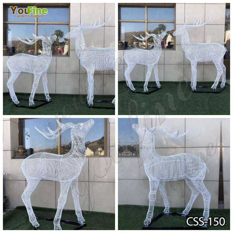 Stainless Steel Deer Sculpture for Sale