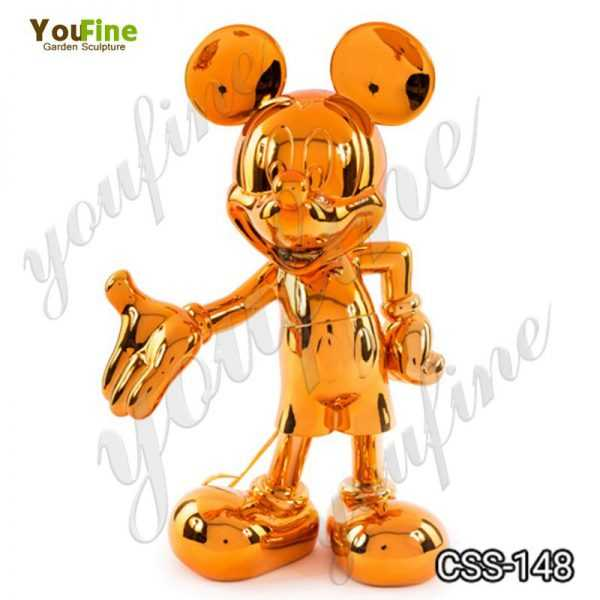 Stainless Steel Mickey Mouse Sculpture for Sale