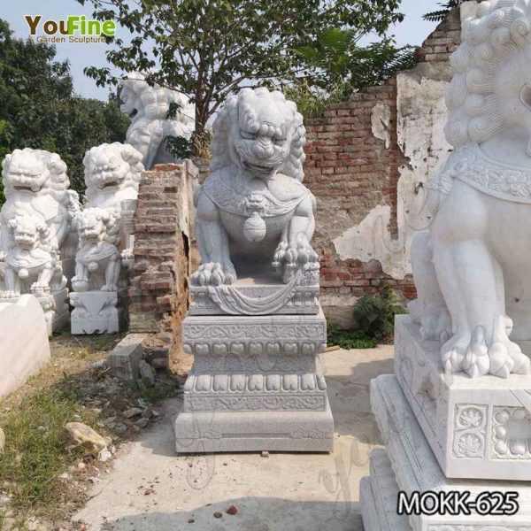 Stone Foo Dog Statues