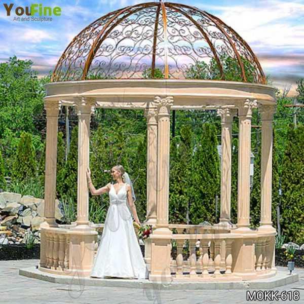 Wedding Beige Marble Gazebo Decorations Supplier