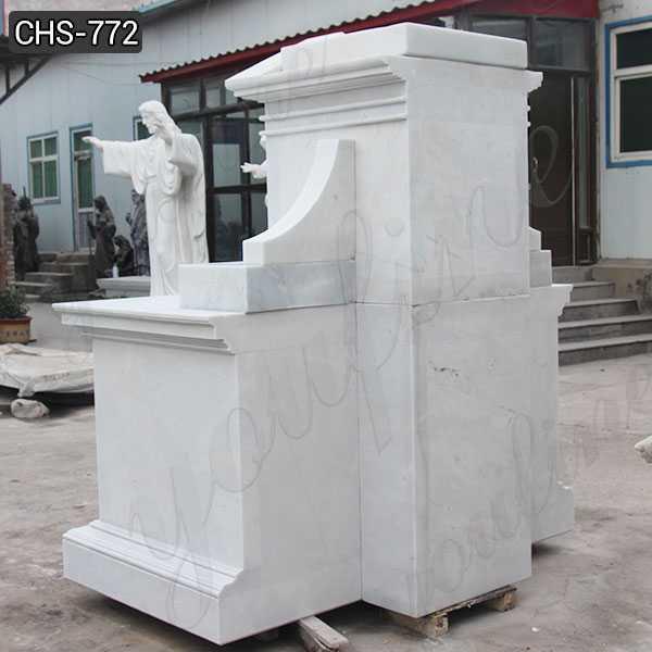 White Marble Altar Table Religious Church Altar