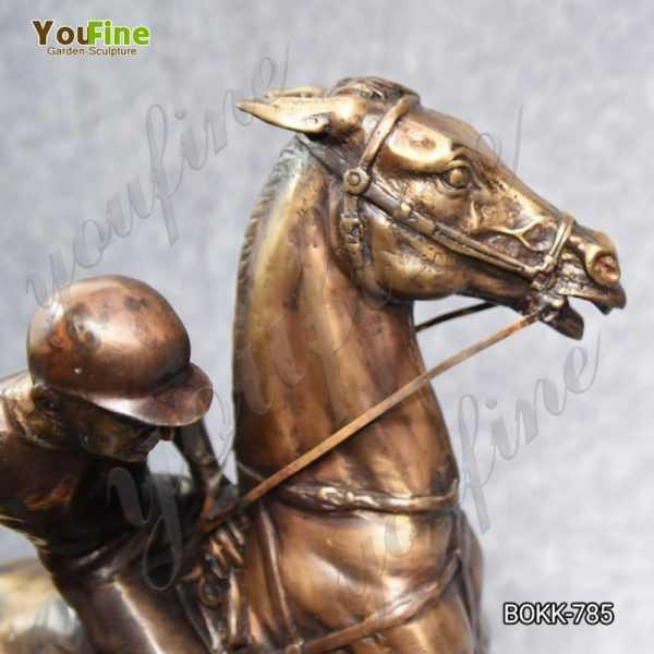 bronze polo statues