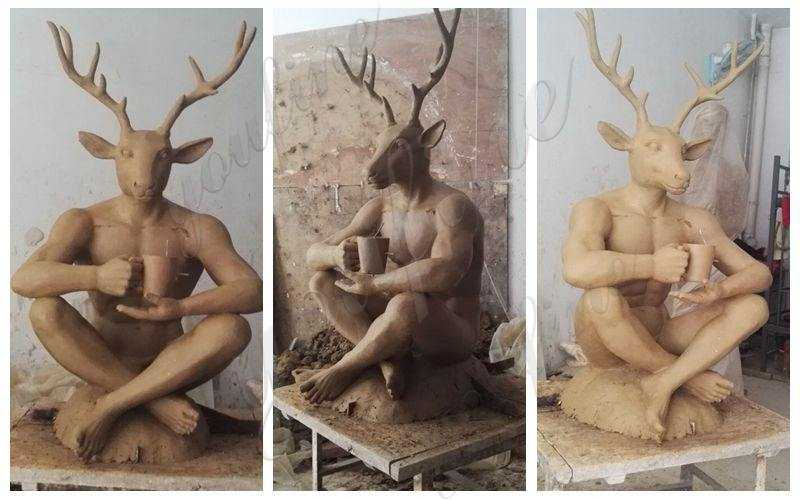 clay mold of custom life size statues