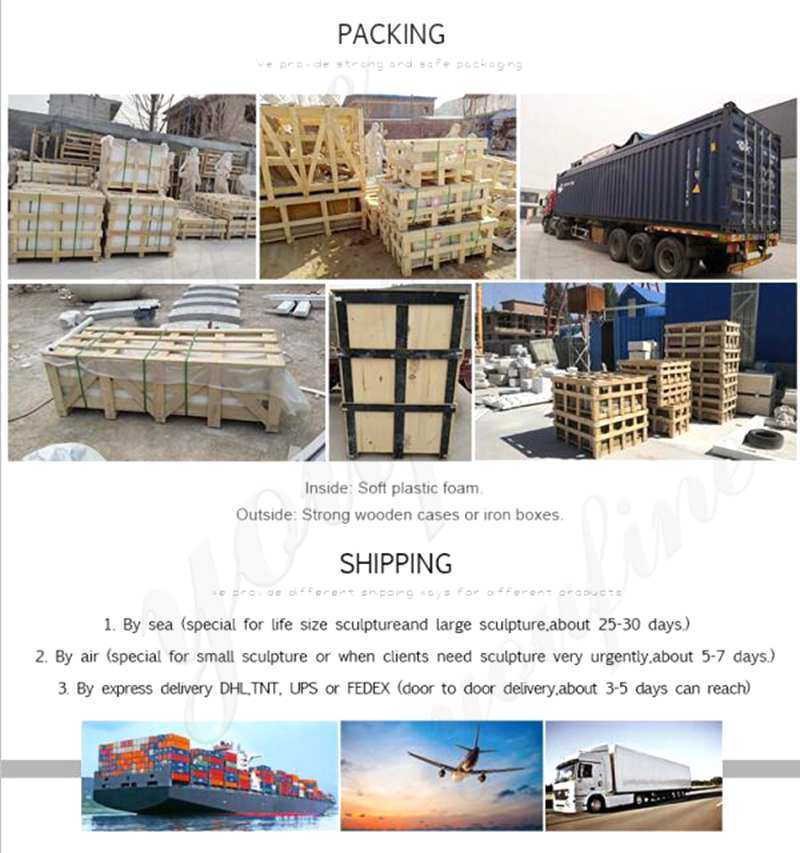 shipping of Three Tiered Granite Water Fountain